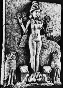 крилата богиня Іннана